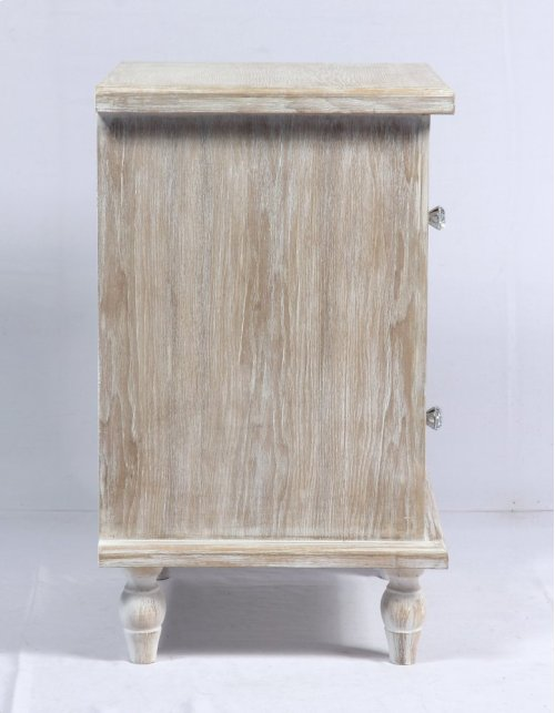 Emerald Home Ac701-04 Canterwood Nightstand, Whitewash