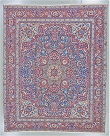 "PERSIAN 000044937 IN NAVY RED 12'-4"" x 15'-1"""