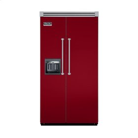"Apple Red 42"" Side-by-Side Refrigerator/Freezer with Dispenser - VISB (Integrated Installation)"