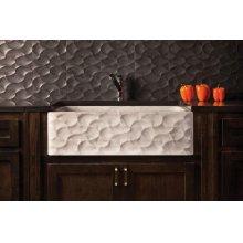 Wave Front Farmhouse Sink Carrara Marble