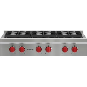 "Wolf36"" Sealed Burner Rangetop - 6 Burners"