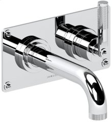 """Chrome Plate 2 Hole wall mounted tub mixer, right handed, 7 1/4"""" spout length"""