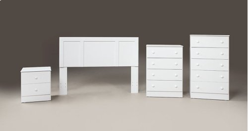 White Twin Headboard, Chest and Frame