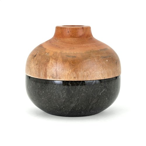 Lucas Short Lidded Vase