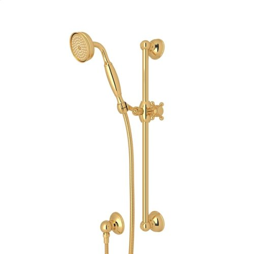 Italian Brass Single-Function Anti-Cal Handshower/Hose/Bar/Outlet Set