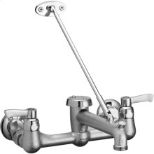 Elkay Commercial Service/Utility Wall Mount Faucet with Bucket Hook Rough Chrome