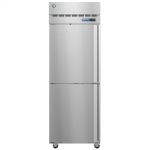 HoshizakiR1A-HSL, Refrigerator, Single Section Upright, Half Stainless Doors with Lock