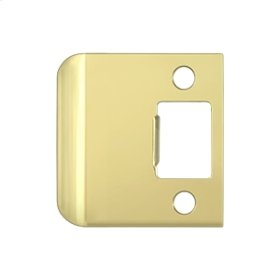 "Extended Lip Strike Plate, 2 1/4"" Overall - Polished Brass"