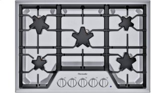 SGS305TS ™ offers an impressive 30-inch gas cooktop with 5 patented Star™ burners, including a center-mounted power burner, and 52,000 BTUs of overall heat output. 30-Inch Masterpiece™ Star™ Burner Gas Cooktop