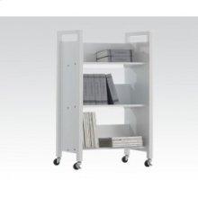 White Bookshelf Cart