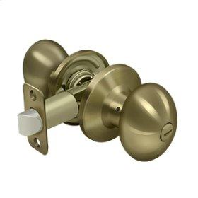 Egg Knob Privacy - Antique Brass