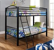 Heavy Metal Black Twin Twin Bunk Bed Product Image