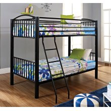 Heavy Metal Black Twin Twin Bunk Bed