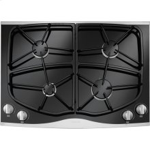 "Gas Cooktop, 30"", Stainless Steel"