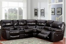 Ramsey Black Cherry Leather Sectional, ML6055