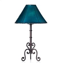 "21"" Forged Iron Lamp No Shade"