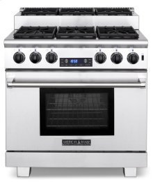 "36"" Titan Step-up Dual Fuel Gas Range"