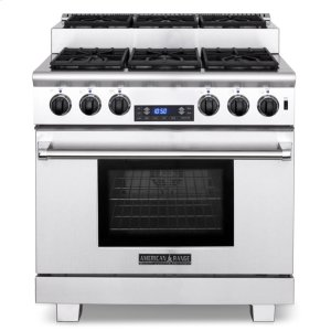"American Range36"" Titan Step-up Dual Fuel Gas Range"