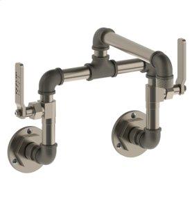 Wall Mounted Bridge Kitchen Faucet