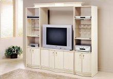 "TV STAND - WASHED OAK HOME THEATER TV STAND / 36""TV"