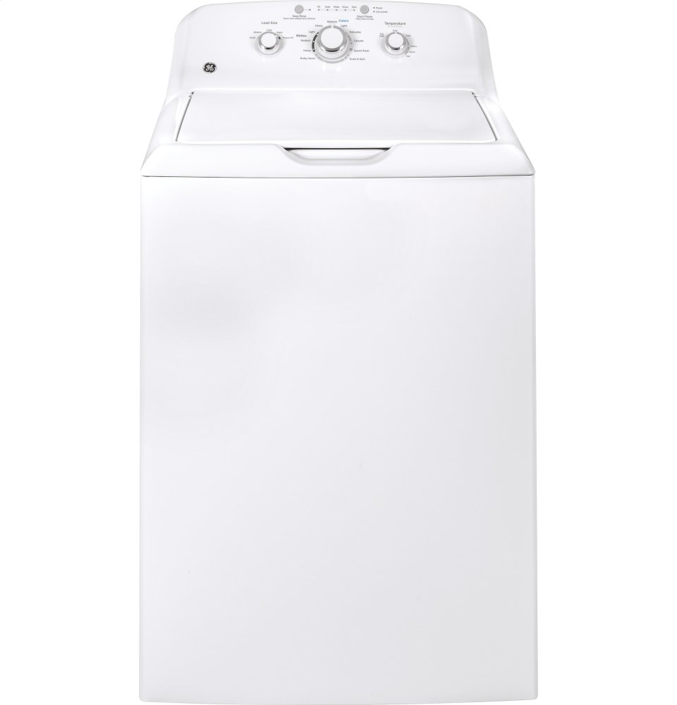 GE(R) 3.8 DOE cu. ft. Capacity Washer with Stainless Steel Basket  WHITE
