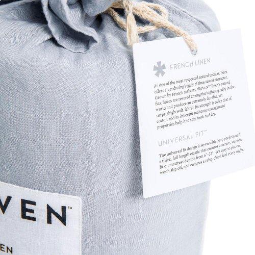 French Linen - King Pillowcase Charcoal