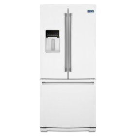 Maytag® 30-inch Wide French Door Refrigerator with External Water Dispenser- 20 cu. ft. - White