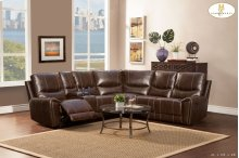 Left Side Double Reclining Love Seat with Console