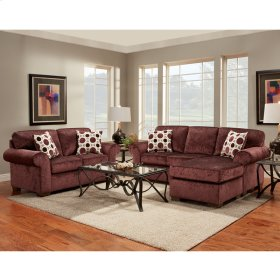 Exceptional Designs by Flash Living Room Set in Prism Elderberry Microfiber