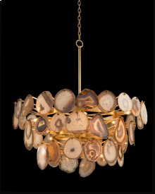 Agate Sliced Chandelier