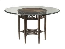 Sugar And Lace Dining Table With Glass Top 54 Inch