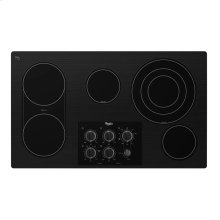 "Whirlpool Gold® 36-inch Electric Ceramic Glass Cooktop with 8"" Bridge Element"