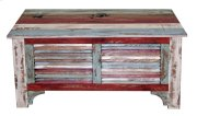 "Multi Color Louvered 39""trunk Product Image"