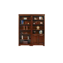 """78.5"""" Open Bookcase $499.00 and Bookcase with Doors $559.00"""
