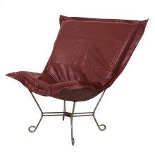Scroll Puff Chair Avanti Apple Titanium Frame