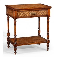 Caned night stand