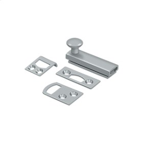"""2"""" Surface Bolt, Concealed Screw, HD - Brushed Chrome"""