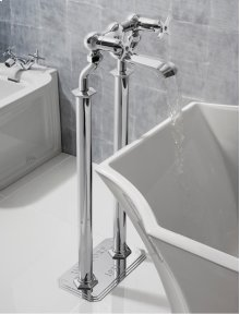 Waldorf Floor Standing Pillar Legs - Polished Chrome