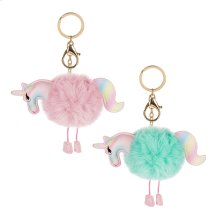 12pc. ppk. Unicorn Key Chain & Bag Clip