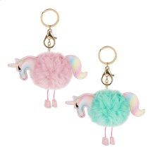 12pc. ppk. Unicorn Key Chain & Bag Clip