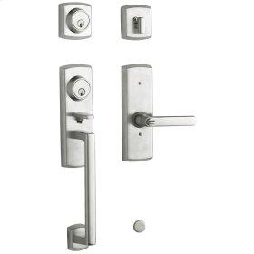 Satin Chrome Soho Two-Point Lock Handleset