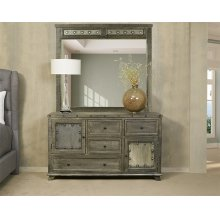 Bolt Dresser and Mirror- Light Graywash
