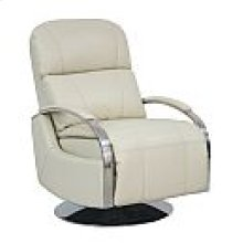 Recliner-push thru arm w/swivel base