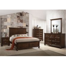 1021 Remington King Bed with Dresser & Mirror