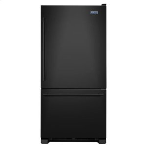 Maytag® 30-Inch Wide Bottom Mount Refrigerator - 19 Cu. Ft. - Black-on-Black - BLACK-ON-BLACK