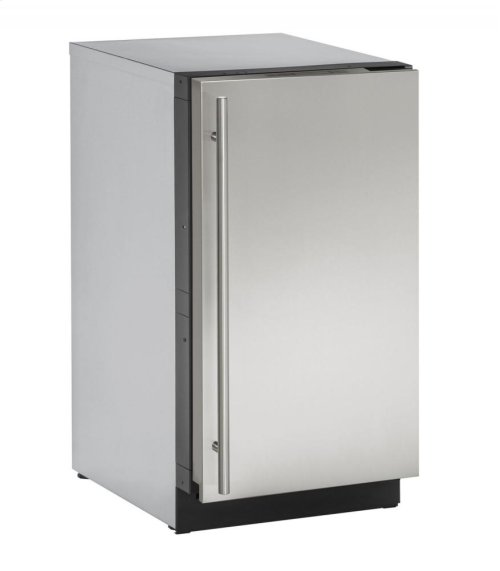 "18"" Solid Door Refrigerator Stainless Solid Right-Hand Hinge"