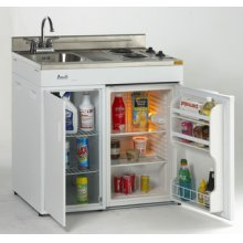 "Model CK36-2 - 36"" Complete Compact Kitchen with Refrigerator"