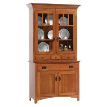 2-Door Mission Hutch & Buffet