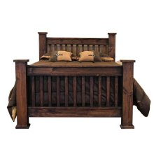 King Mission Bed Medio Finish