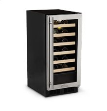 "15"" High Efficiency Single Zone Wine Cellar - Panel Overlay Frame Glass Door - Integrated Left Hinge"